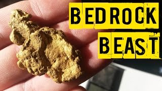 Download HUGE Gold Nugget Found in Solid Bedrock - Metal Detecting For Gold Video