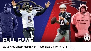 Download Ravens vs. Patriots: 2012 AFC Championship   Joe Flacco vs. Tom Brady   NFL Full Game Video
