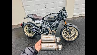 Download ducati scrambler cafe racer baffle and muffler removal (exhaust mod) Video