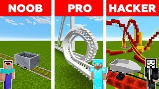 Download Minecraft NOOB vs PRO vs HACKER : ROLLER COASTER CHALLENGE in minecraft / Animation Video