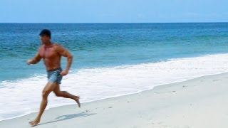 Download Barefoot running and beach HIIT workout Video