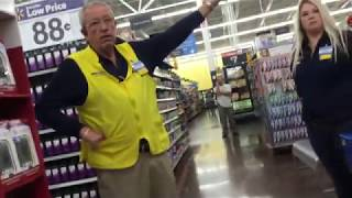 Download Walmart Manager doesn't want Me sitting on their Pharmacy Dept. chairs Video