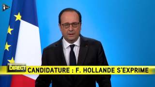 Download François Hollande ne sera pas candidat à la présidentielle Video