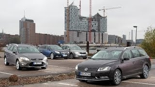 Download Opel Insignia, Ford Mondeo, VW Passat, Skoda Superb - Wettstreit der Kombi-Klassiker Video