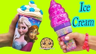 Download Ice Cream Surprise Blind Bag Disney Frozen Cup & Lisa Frank Cone - Toy Unboxing Cookie Swirl C Video Video
