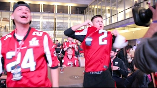 Download ATLANTA FALCONS FANS REACT DURING SUPER BOWL LI IN DOWNTOWN ATLANTA (THE THRILL AND THE AGONY) Video