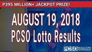 Download PCSO Lotto Results Today August 19, 2018 (6/58, 6/49, Swertres, STL & EZ2) Video