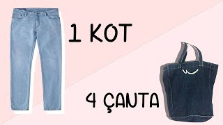 Download Eski Kot Pantolondan 4 Adet Çanta | 4 Bags Out Of 1 Jean | DIY Video