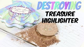 Download THE MAKEUP BREAKUP - Destroying, weighing & re-pressing the Bitter Lace Beauty Treasure Highlighter Video