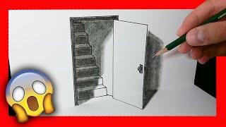 Download Cómo dibujar una puerta 3D - ilusión óptica Video
