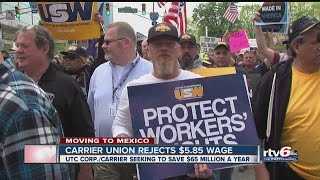Download Carrier workers reject $5.85 wage offer Video