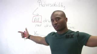 Download English Grammar - Modals of Advisability Video