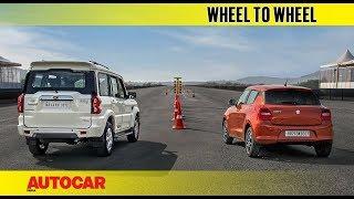 Download Drag Race: Mahindra Scorpio vs Maruti Swift   Autocar India Video
