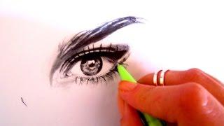 Download Basit ve gerçekçi göz çizimi 2 - Realistic and basic eye drawing 2- Nisa Bağdatlı Video