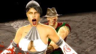 Download Mortal Kombat 9 - All Fatalities & X-Rays on Kitana White Costume Skin Mod 4K Ultra HD Gameplay Mods Video