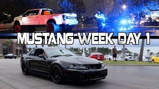 Download BURNOUTS = ARRESTED Mustang Week Day 1 2017 Meet and Greet Broadway at the Beach Video