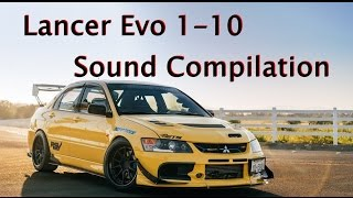 Download Lancer Evo 1-10 Sound Compilation Video