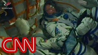 Download Astronauts react inside rocket during emergency landing Video