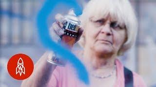 Download Meet the 71-Year-Old ″Graffiti Grandma″ Scrubbing Away Hate Video