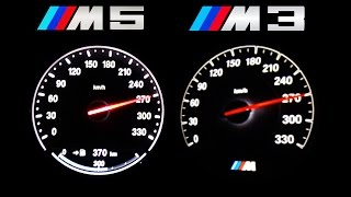 Download BMW M5 vs BMW M3 F80 Acceleration 0-270 Autobahn Onboard V8 Sound Video