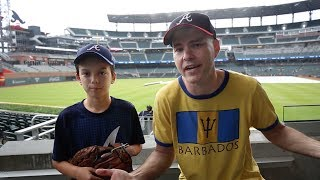 Download Helping a 12-year-old kid catch baseballs at SunTrust Park Video