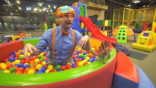 Download Blippi Learns at the Indoor Playground | Educational Videos for Toddlers Video