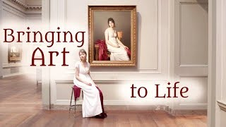 Download Classical Art & Real-Life Doppelgänger: Bringing 'Portrait of a Young Woman in White' to Life Video