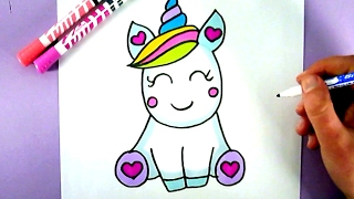 Download HOW TO DRAW A SUPER CUTE AND EASY UNICORN Video