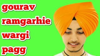 Download How to tie Gourav ramgarhie wargi pagg /by turban king jaskarandeep singh Video