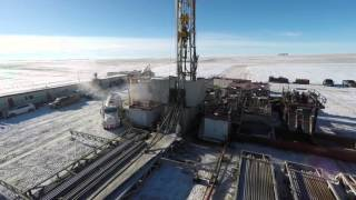 Download Oil Drilling Rig - Drone Footage Saskatchewan Video