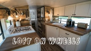 Download School Bus turned into Loft on Wheels - Tiny House Video
