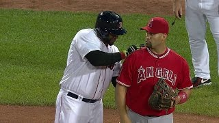 Download LAA@BOS: Papi and Pujols horse around at first base Video