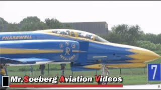 Download Beautiful LAST fly out F-4F Phantom German AF; Phantom Pharewell Video