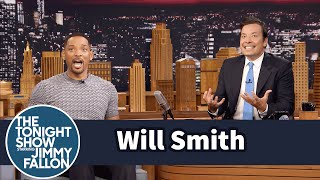 Download Will Smith Fanboyed When He Saw the Batmobile on the Suicide Squad Set Video