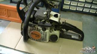 Download HOW TO - Carburetor & Fuel Line Repair on STIHL 017, MS170, 018, M180 Chainsaw Part 1/3 Video
