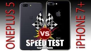 Download OnePlus 5 vs iPhone 7 Plus - Speed Test (Xiaomi Mi6, You're NEXT!) Video