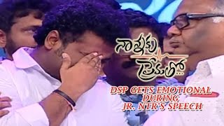 Download DSP Gets Emotional During Jr. NTR's Speech || Nannaku Prematho Audio Launch Video
