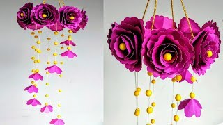 Download DIY Wind Chime with Beautiful Paper Roses Wall Hanging Paper Craft Video
