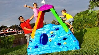 Download Diana and Roma pretend play climbing with activity toys Video