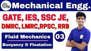 Download 12:00 PM | Mechanical by Neeraj Sir | Day #03 | Fluid Mechanics | Buoyancy & Floatation | Part-I Video