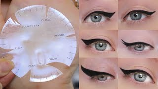 Download Winged Eyeliner Tutorial | 6 Different Styles, ONE Stencil Video