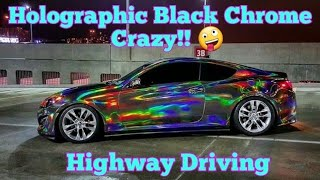 Download HOLOGRAPHIC CHROME CAR, holographic chrome vinyl wrap. By @CKWRAPS Video