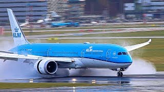 Download Reverse thrust, JUST AMAZING on a wet runway, A380, B747, B777, B787, A330 Video