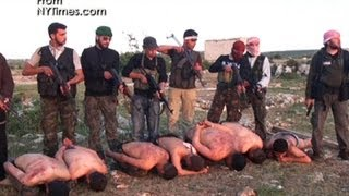Download Graphic video: Rebels execute Syrian soldiers Video
