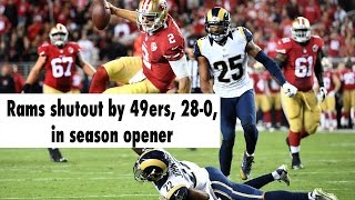 Download The 49ers shutout the Rams, 28-0, in season opener Video