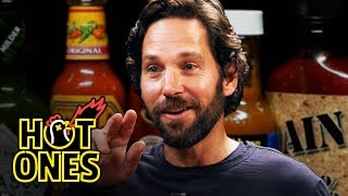 Download Paul Rudd Does a Historic Dab While Eating Spicy Wings   Hot Ones Video