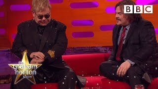 Download Jack Black asks Sir Elton John to identify one of his own songs - The Graham Norton Show Video