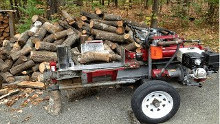 Download Fast Extreme Homemade Firewood Processing Machine,Modern Homemade Log Splitter,Wood Chainsaw Cutting Video