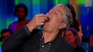 Download Bourdain eats fetal duck egg on air Video