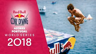 Download Diving from volcanic cliffs. | Red Bull Cliff Diving World Series 2018 LIVE Azores, Portugal Video